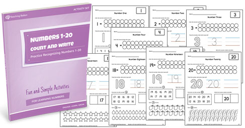 Numbers 1-20: Count and Write Activity Set | MyTeachingStation.com