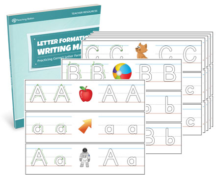 Letter Formation Writing Mat Set