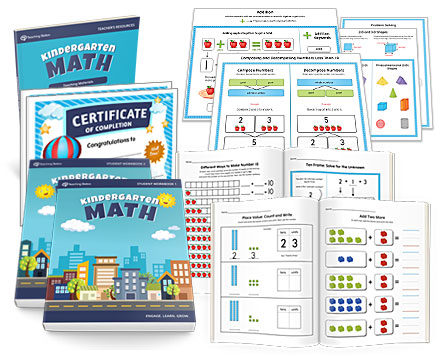 Complete Kindergarten Math Curriculum Student Workbooks Plus Teacher ...