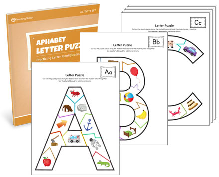 Alphabet Letter Puzzle Activity Set