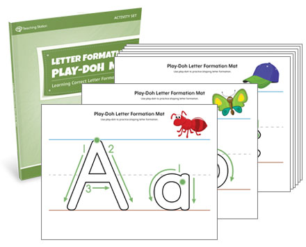 Letter Formation Play-Doh Mat Activity Set