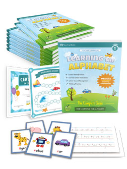 Learning the Alphabet Workbook Series for Kindergarten and Preschool