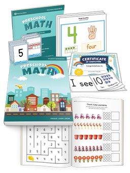 Preschool Math Workbook + Teacher's Resources, Complete Set