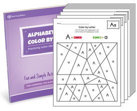 Alphabet Color-by-Letter Activity Set
