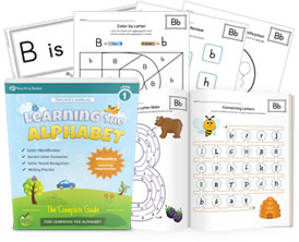 Learning the Alphabet Level 1 - Single Letter Workbook