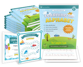 Learning the Alphabet Level 1 - Letter Workbook Series