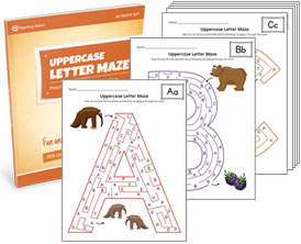Uppercase Letter Maze Activity Set