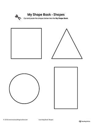 Basic Geometric Shapes Mini Book | MyTeachingStation.com