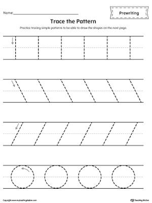 Free Worksheets » Tracing Lines Worksheets For Preschool - Free ...