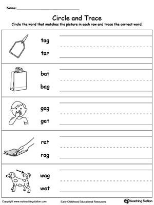 Identify Word and Write: AG Words