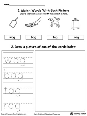 AG Word Family Workbook for Preschool | MyTeachingStation.com