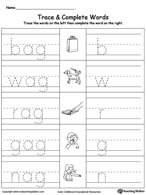 math worksheet : ag word family workbook for kindergarten  myteachingstation  : Kindergarten Family Worksheets
