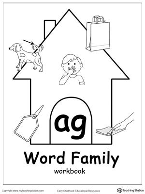 Ag Word Family Workbook For Kindergarten Myteachingstation Com