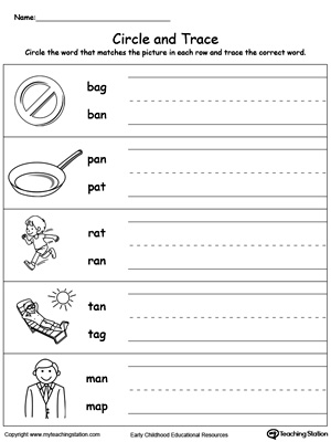 Build vocabulary, word-sound recognition and practice writing with this AN Word Family worksheet.