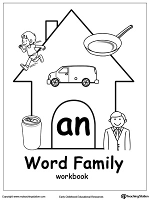 AN Word Family Workbook for Kindergarten | MyTeachingStation.com
