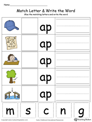 AP words,AP word families,word family,beginning letter sound,cvc words ...