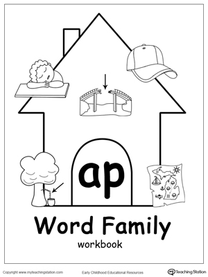 math worksheet : ag word family workbook for kindergarten  myteachingstation  : Family Worksheets Kindergarten