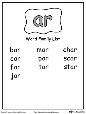 AR Word Family List
