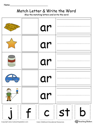 Kindergarten Building Words Printable Worksheets ...
