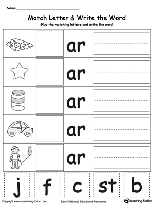kindergarten building words printable worksheets. Black Bedroom Furniture Sets. Home Design Ideas