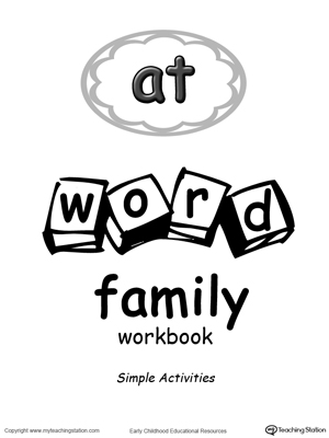 AT Word Family Workbook for Preschool