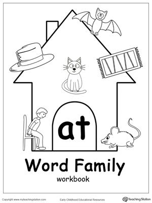 At Word Family Workbook For Kindergarten Myteachingstation