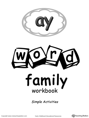 AY Word Family Workbook for Preschool