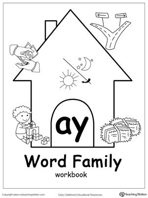 AY Word Family Workbook for Kindergarten | MyTeachingStation.com