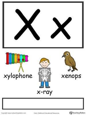 4 letter words with x letter x alphabet flash cards for preschoolers 20150 | Alphabet Flashcards For Preschooler Letter X Color