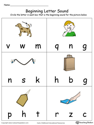 Beginning Letter Sound: AG Words in Color