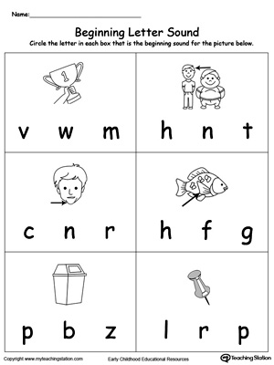 Beginning Letter Sound: IN Words