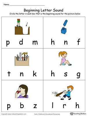 Beginning Letter Sound: IT Words in Color