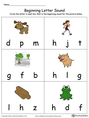 Beginning Letter Sound: OG Words in Color