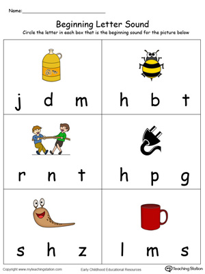 Beginning Letter Sound: UG Words in Color