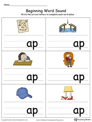 Beginning Word Sound: AP Words in Color