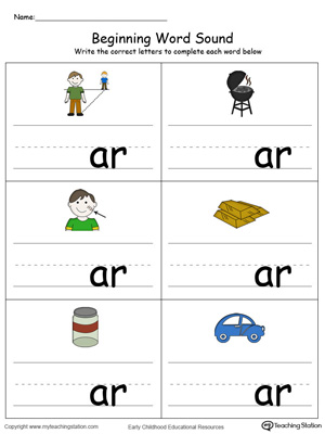 Beginning Word Sound: AR Words in Color