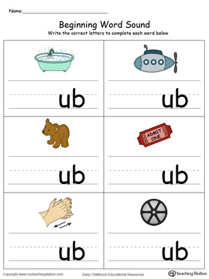 Beginning Word Sound: UB Words in Color