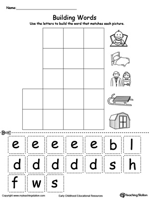 free worksheets phonic words for kindergarten free math worksheets for kidergarten and. Black Bedroom Furniture Sets. Home Design Ideas