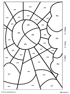 math worksheet : kindergarten color by number printable worksheets  : Kindergarten Art Worksheets