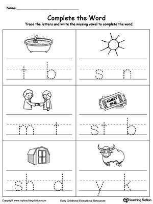 math worksheet : early childhood building words worksheets  myteachingstation  : Kindergarten Reading And Writing Worksheets
