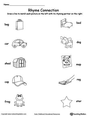 Printables Words That Rhyme For Kindergarten words that rhyme with kindergarten scalien connect rhyming pictures ending in ig ug ut og or kindergarten