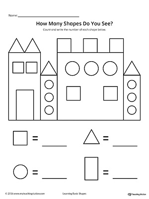 math worksheet : shapes worksheet kindergarten  khayav : Math Shape Worksheets
