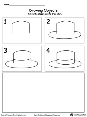 Follow the Steps to Draw a Hat
