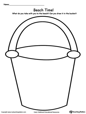 Paint Bucket Coloring Page