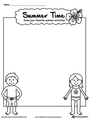 Preschool Drawing Printable Worksheets | MyTeachingStation.com