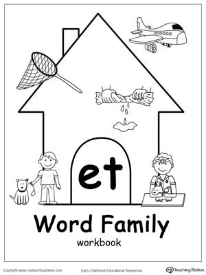 ET Word Family Workbook for Preschool | MyTeachingStation.com