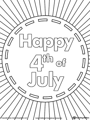 4th of July Fireworks Coloring Page MyTeachingStationcom