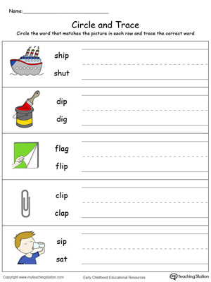 Build vocabulary, learn phonics and practice writing with this IP Word Family worksheet.