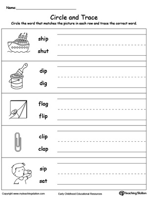 Build vocabulary, word-sound recognition and practice writing with this IP Word Family worksheet.