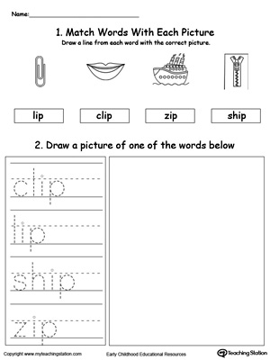 IP Word Family Phonics and Writing Practice